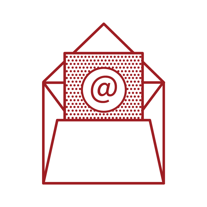 icon of an envelope with mail