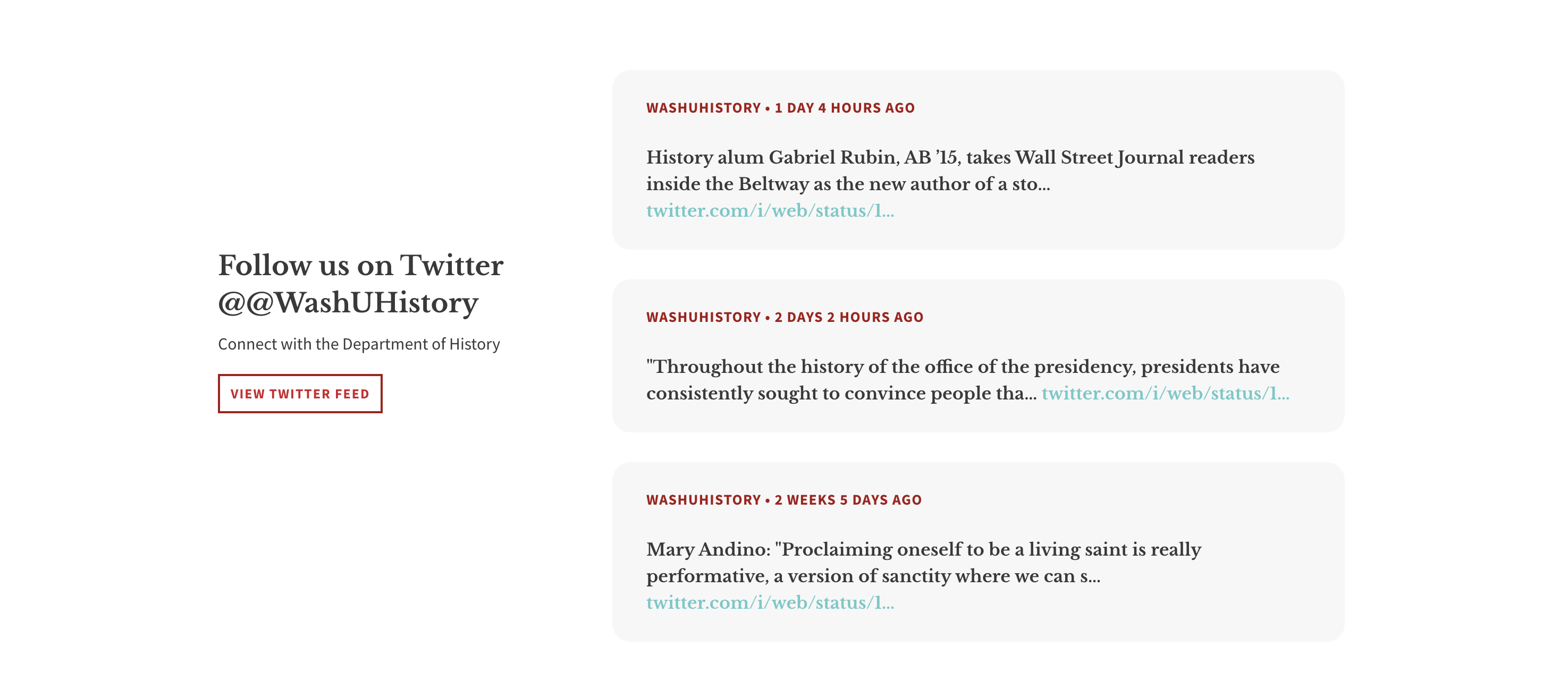twitter section of publication page